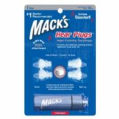 Mack's High Fidelity Hear Plugs Attenuation, Flanged Earplugs